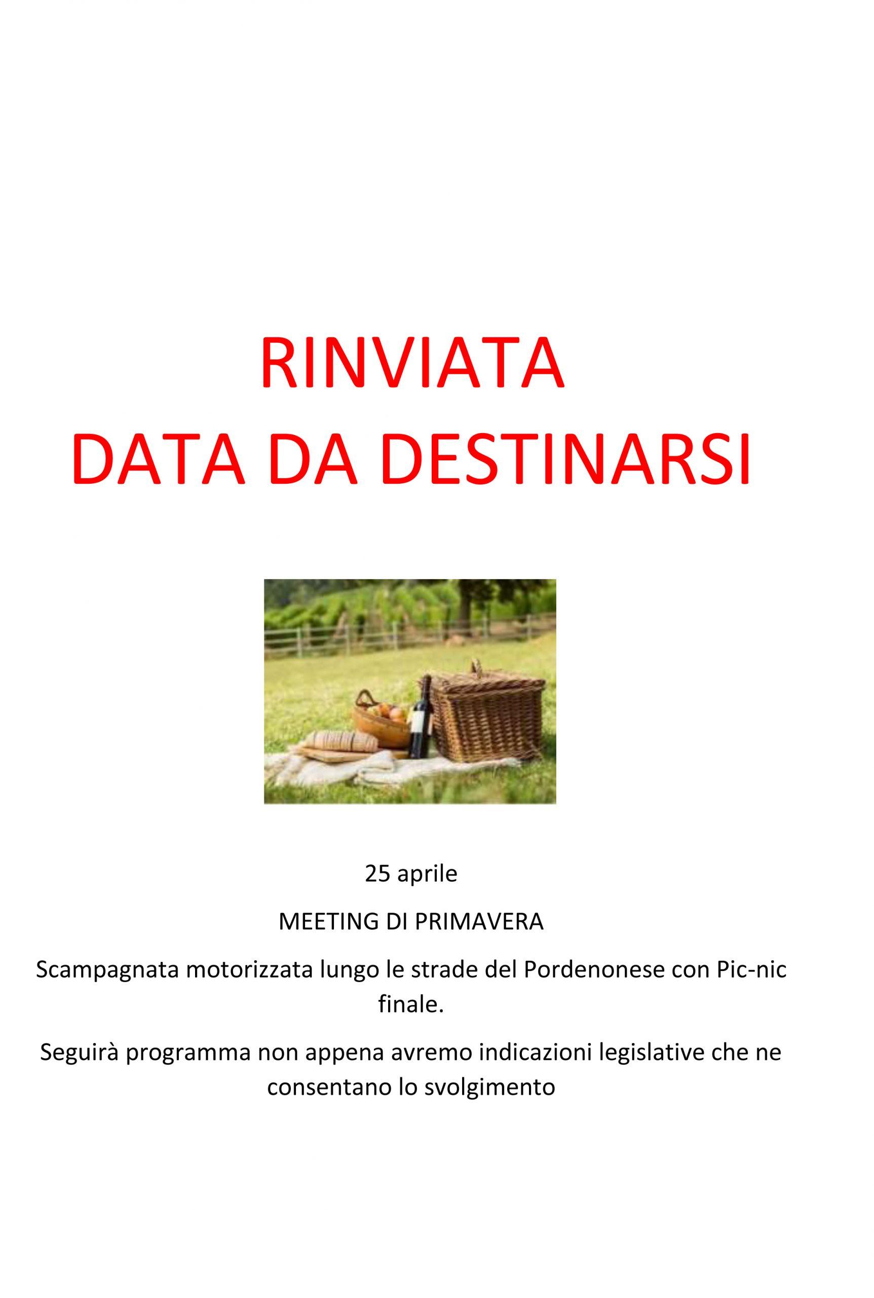 25 aprile                       MEETING DI PRIMAVERA